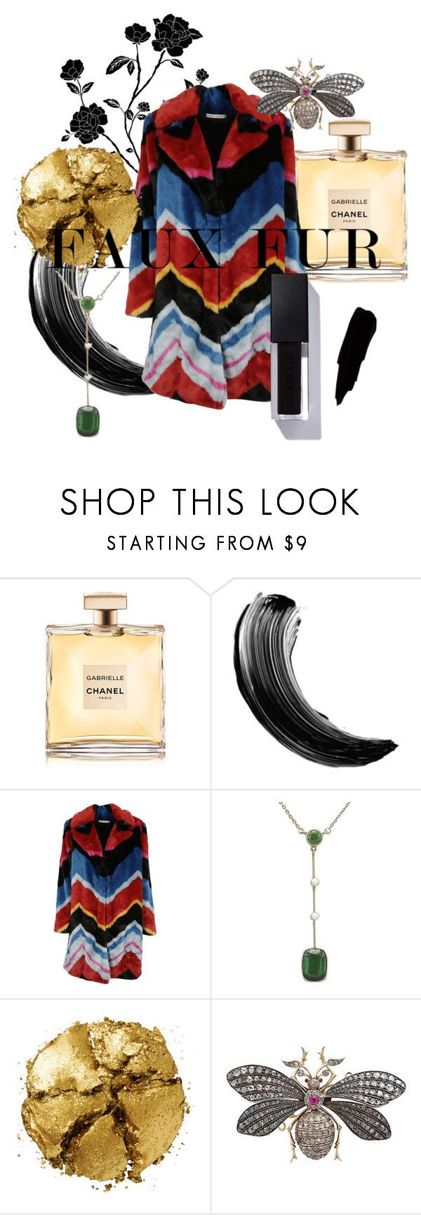 """Faux Fur"" by ac-silver ❤ liked on Polyvore featuring Chanel, Maybelline, Alice + Olivia, Pat McGrath and vintage"