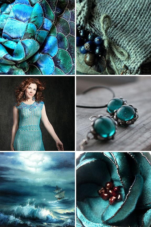 «Морские глубины» — коллекция предметов ручной работы  Handmade items set, see more: http://www.livemaster.ru/gallery/1411503