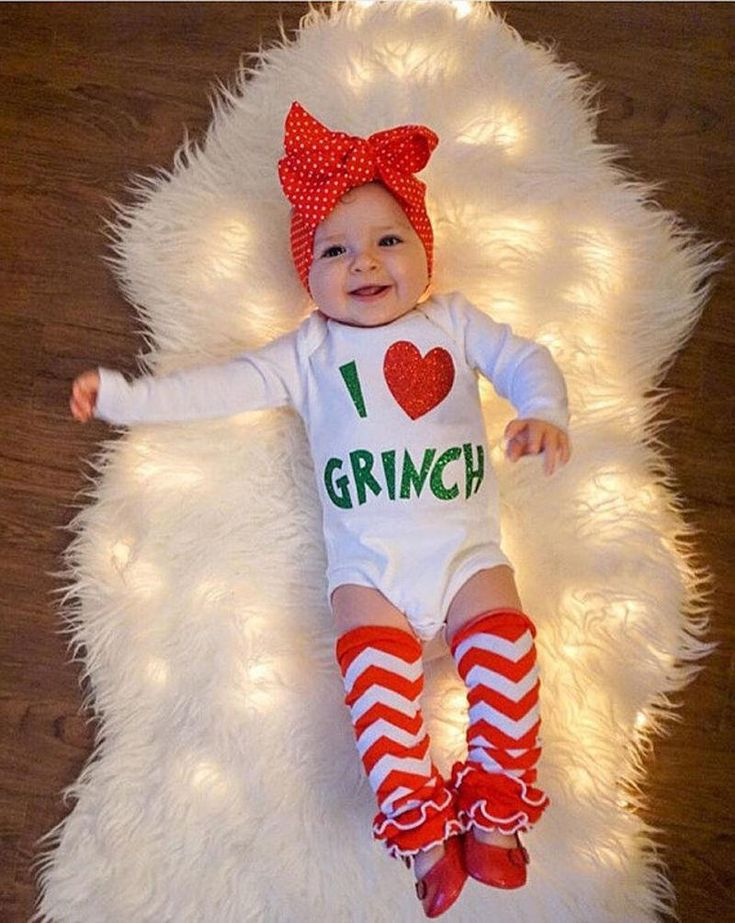USA Newborn Baby Girls Heart Romper Jumpsuit Bodysuit Clothes Xmas Outfits wea 2
