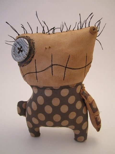 Handmade grungy lil monster RIZZO by jennifoofoo on Etsy
