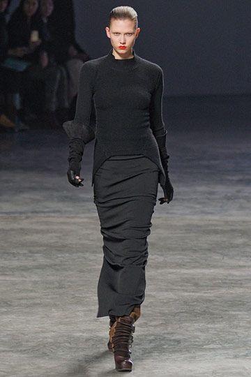 Rick Owens | Midi Skirts | womens midi skirt | black | womens style | fashion | wantering