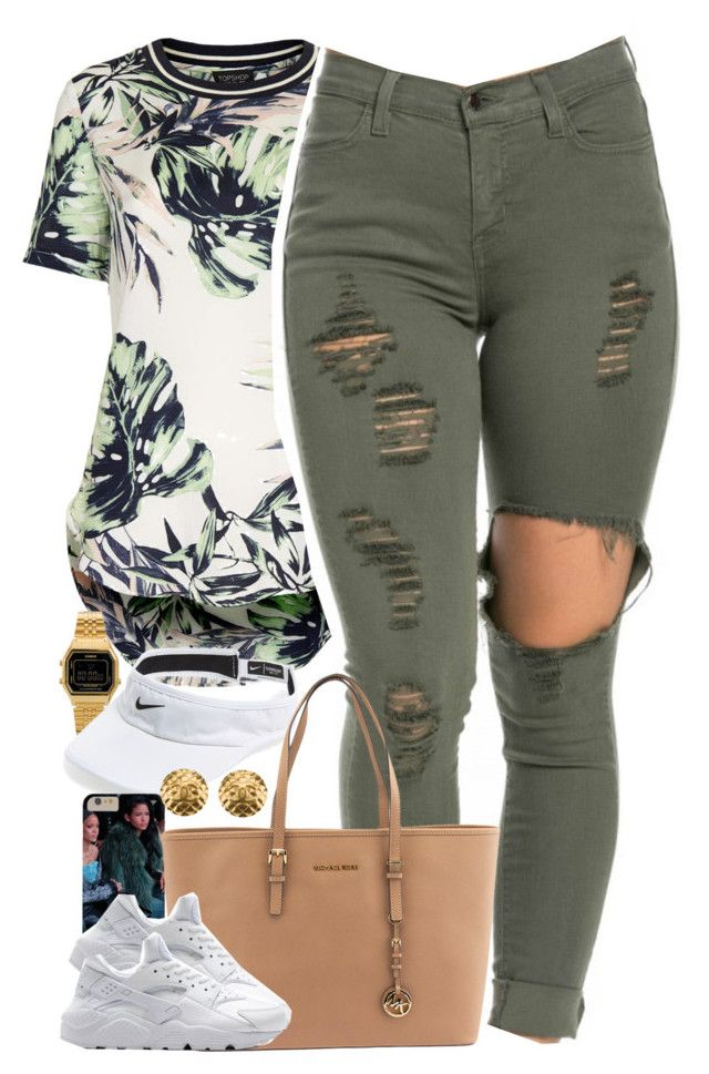 """""""Untitled #1502"""" by power-beauty ❤ liked on Polyvore featuring Topshop, Casio, NIKE, Michael Kors and Chanel"""