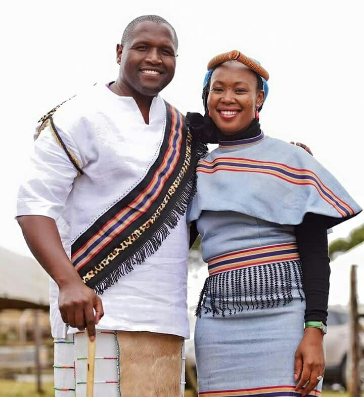 His and hers Mpondo inspired mordern regalia by Nyamie at Rafkhat Creations