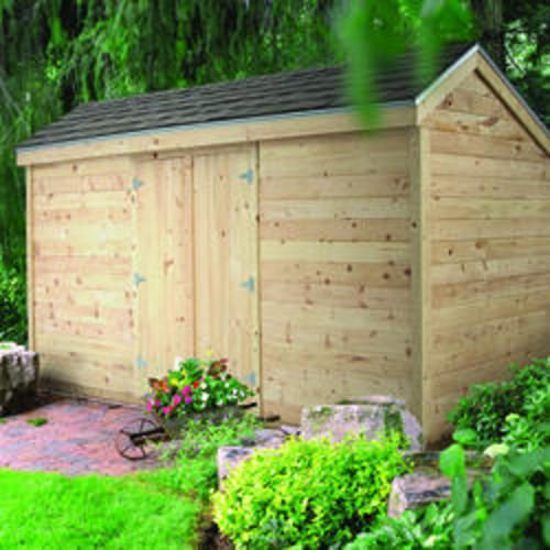 midwest manufacturing ez build x garden storage shed