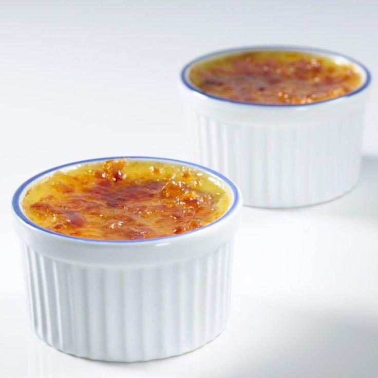 Crème brûlée au fromage Le Bleu d'Élizabeth, aux figues et au caramel de porto
