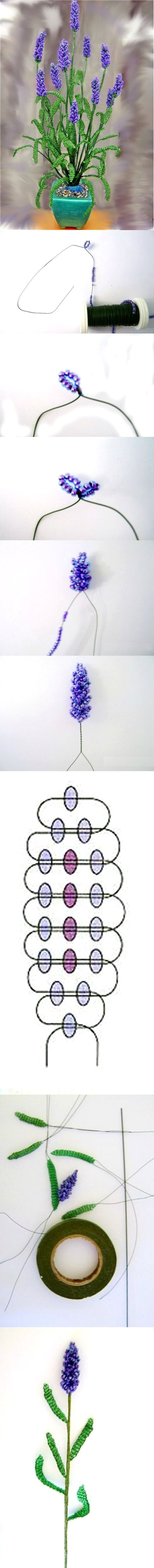 bead lavender tutorial: