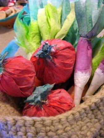 legumes en papier essuie tout