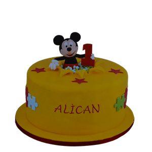 mickey mouse doğum günü pastası, 1 yas  butik pasta, ankara butik pasta, 1 yaş doğum günü pastası, Morde 1 yaş mickey mouse pastası