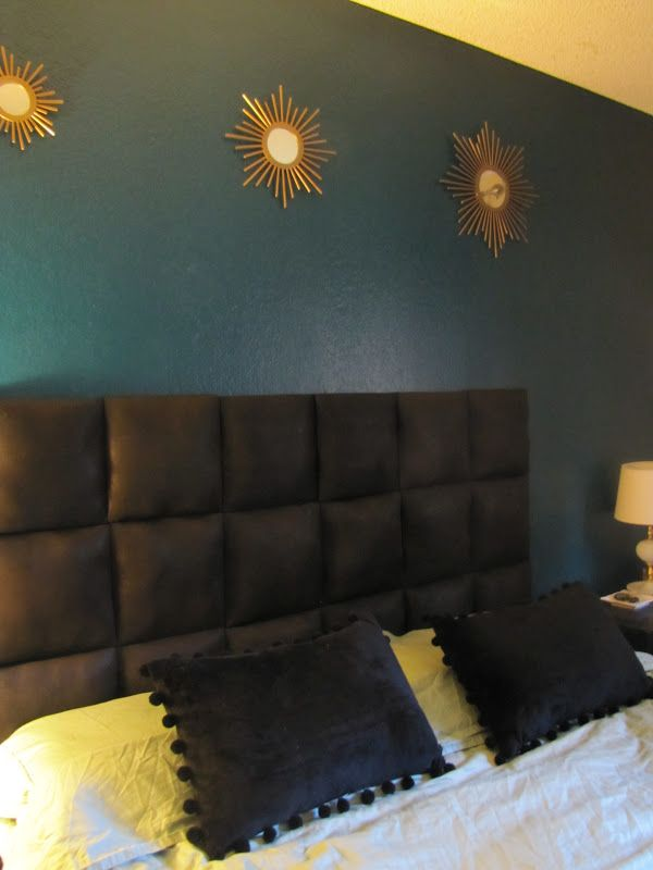 DIY headboard for under $40! So easy too...so doing this on saturday!