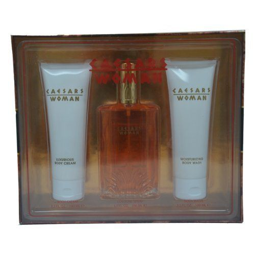 Caesars By Caesars For Women Gift Set by Caesars. $22.79. It is recommended for casual wear. 3 Pc Gift Set 3.3oz Cologne Spray, 3.3oz Luminous Body Cream, 3.3oz Luminous Body Wash. Caesars by Caesars for Women - 3 Pc Gift Set 3.3oz Cologne Spray, 3.3oz Luminous Body Cream, 3.3oz Luminous Body Wash. 3 Pc Gift Set 3.3oz Cologne Spray, 3.3oz Luminous Body Cream, 3.3oz Luminous Body Wash