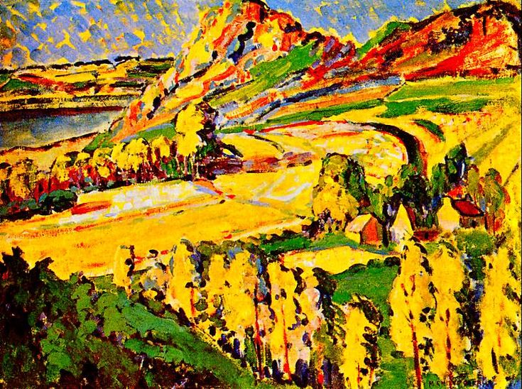 Autumn in France-1911 - Emily Carr - (closely associated with the Group of Seven, though was never an official member)