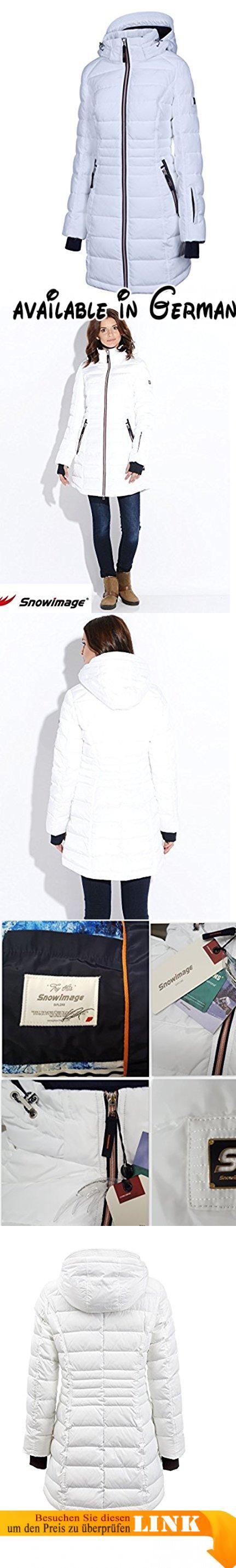 """M506 Damen Winterjacke """"SNOWIMAGE"""" abnehmbare Kapuze Daunen look (34(S) weiß). M503 Damen Daunenmantel mit Echtfellkapuze AVIATOR. Passform: figurbetont, schmal. Bei kurviger Figur oder breiten Schultern empfehlen wir, eine Nummer größer zu wählen. Genaue Größenangaben entnehmen Sie bitte aus Produktbeschreibung unten. Gesamtlänge: 82 cm bei Größe 36.. Kapuze in Form Aviator-Mütze, abnehmar, mit Echtfell - Kanin. Elastische Ärmelbündchen, tiefe Seitentaschen mit"""