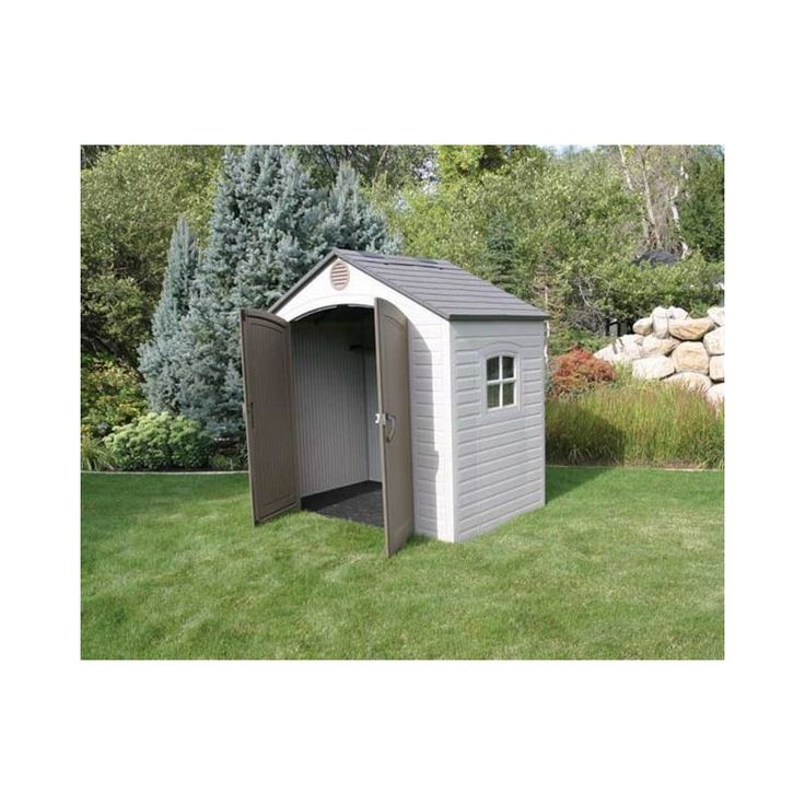 lifetime 8 x 5 outdoor storage shed 6406 great for small spaces this shed has shelving units and peg strips so you can use every inch of storage space - Garden Sheds 8 X 5