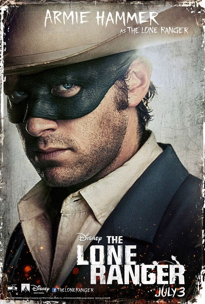 New Posters For Disneys The Lone Ranger Get Up Close & Personal With Johnny Depp & Armie Hammer   The Playlist