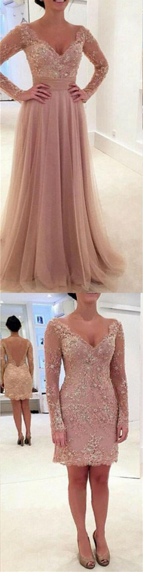 2017 Two Pieces Prom Dress with Removable Skirt Evening Party Formal Wear pst1545