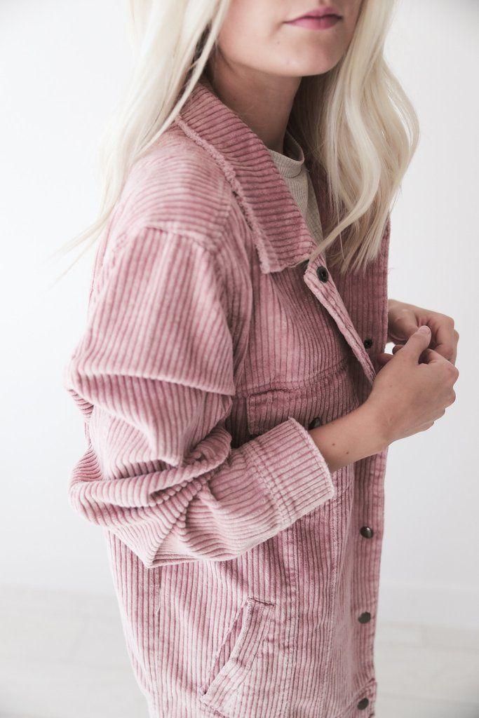 Pink Corduroy Jacket - Luca + Grae