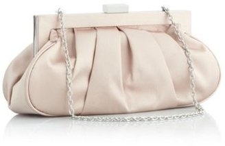 Light gold pleated clutch bag from Debenhams was £25 now £20