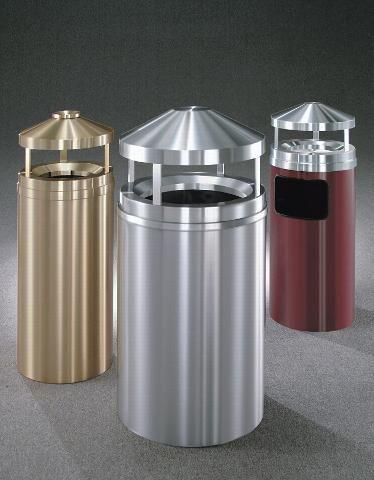 decorative outdoor trash containers - Outdoor Trash Cans
