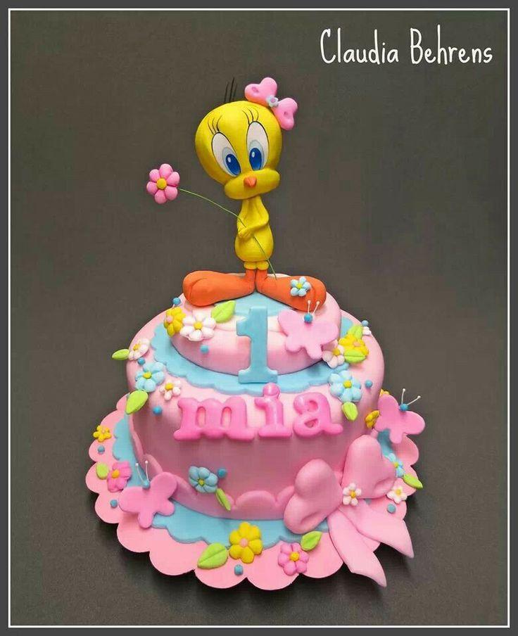 Tweety birthday cake