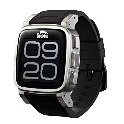SNOPOW W1 Smartwatch for Android - Silver   Rugged Smartwatch Snopow W1 is not only a stylish accessory, but also a very practical device. GSM SIM CARD, Bluetooth notifications, waterproof IP68 and mu