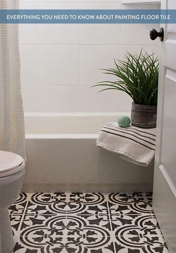Sick Of Your Floor Tile You Should Paint It Pinterest Tile