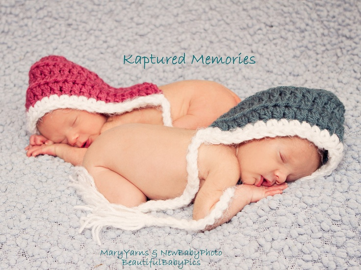 Pixie Hat Twin SET 2Hats Newborn Baby Photo prop  ANY COLOR ... - Photography Session. $44.00, via Etsy.