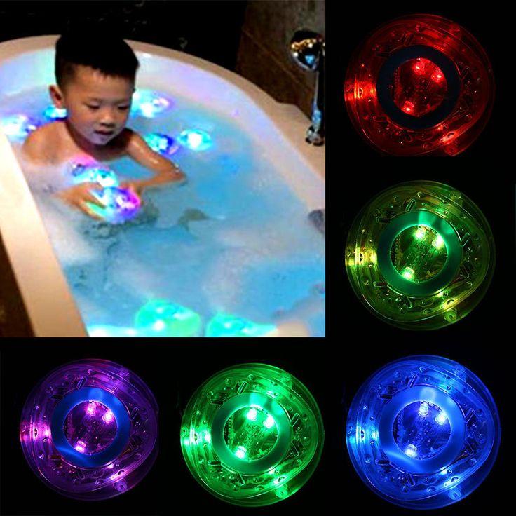 Baby Bath Bathtime Bath Tub Fun Funny Color Changing RGB Light Lamp Toy