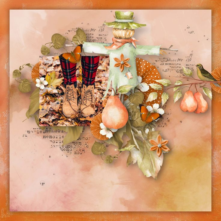 """Hello Autumn"" by Aurélie Scrap, https://withlovestudio.net/blog/product/hello-autumn-kit-2/, photo Pixabay"