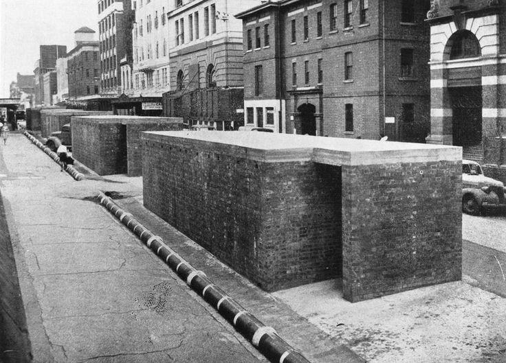Elizabeth Street Air Raid Shelters, 1942.