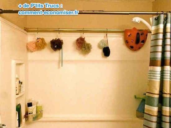 Les 25 meilleures id es de la cat gorie barres de rideaux for Astuce rangement salle de bain