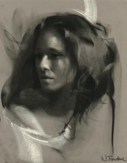 Porträtzeichnung in der Holzkohle – volle Demo