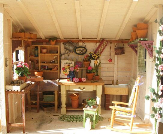 Rustic Country Potting Shed Ideas For Home Outdoors