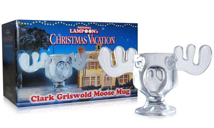 Officially Licensed National Lampoons Christmas Vacation Glass Moose Mug - SINGLE Mug