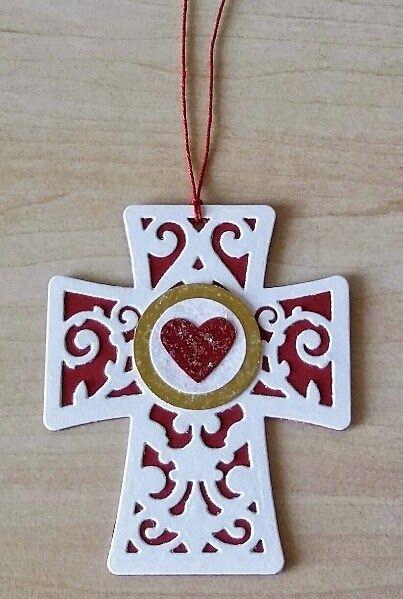Anhänger, Kreuz, Spellbinders Shapeabilities Filigree Cross