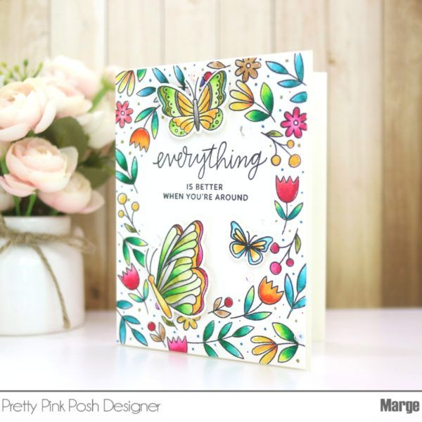 Watercolor Spring Card Pretty Pink Posh Cards Beautiful