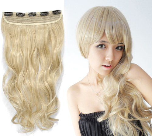 64 best curly hair extensions images on pinterest close to one fashionable 16 long by 8 wide golden blonde curly wavey synthetic clip on hair extension pmusecretfo Choice Image