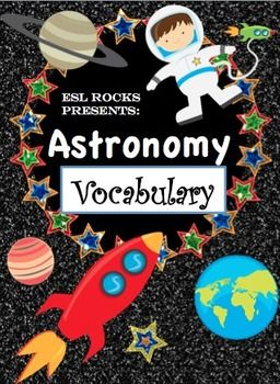 Astronomy Solar System Vocabulary Cards for ELLs
