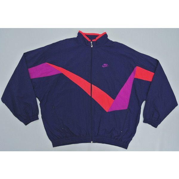 Nike Windbreaker Man XXL Vintage 90s Nike Jacket Nike Color Block... (180 SAR) ❤ liked on Polyvore featuring activewear, activewear jackets, nike sportswear, nike, vintage sportswear and nike activewear