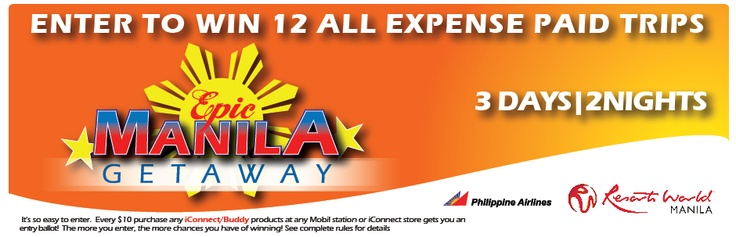Enter our Epic Manila Getaway for an all-expense paid weekend to Resorts World Manila!
