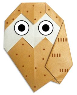 """Origami Corner""- an EXCELLENT resource for making a variety of origami shapes- like this sweet little owl..."