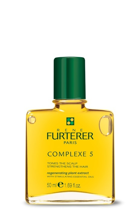COMPLEXE 5 - Essential for a beautiful hair and healthy scalp. Contains 53% pure essential oils of Orange and Lavender that stimulates microcirculation and invigorates the scalp to enhance the growth of beautiful and healthy hair. COMPLEXE 5 was formulated to help strengthens hair from the root while deeply cleansing the scalp and optimizing the effectiveness of Rene Furterer treatments.