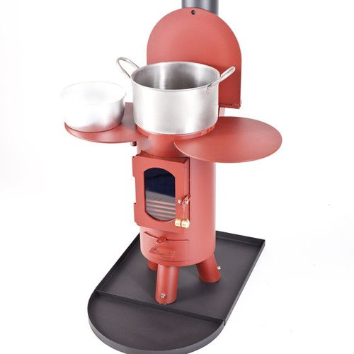The Traveller stove log burner mutli-fuel portable wood burner Mojave Red | eBay