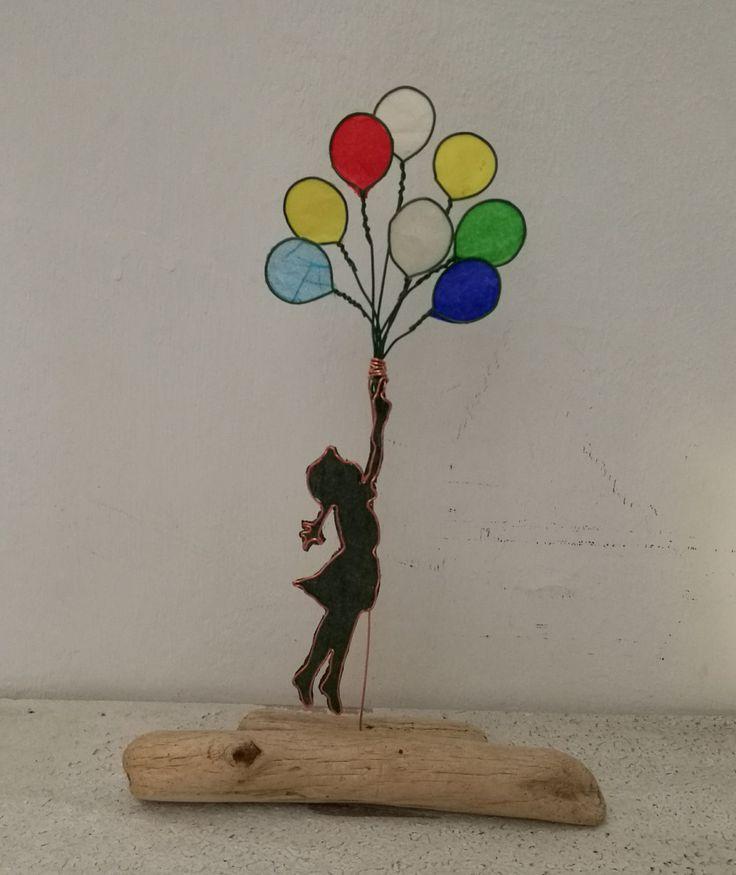 Banksy Flying Balloon Girl - Bambina con Palloncini di Yvlis su Etsy https://www.etsy.com/it/listing/493289126/banksy-flying-balloon-girl-bambina-con