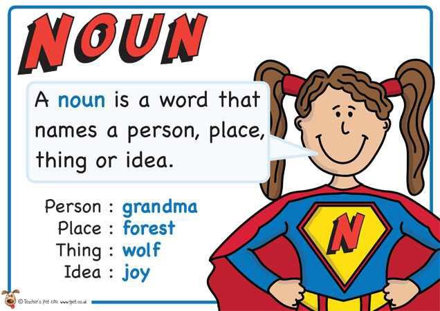 Noun. Superhero themed grammar resource for Literacy KS1 and KS2