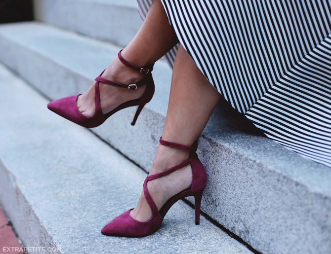 berry suede shoes for fall