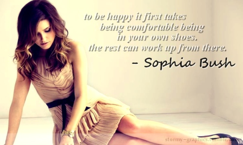 -Sophia Bush I don't know if this girl knows how incredibly awesome she is!