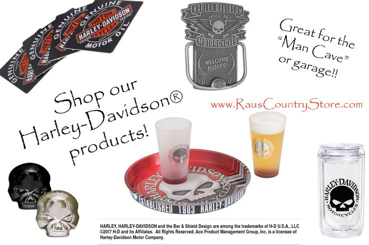 Check out the Harley-Davidson® in our store!! Tons of motorcycle products!