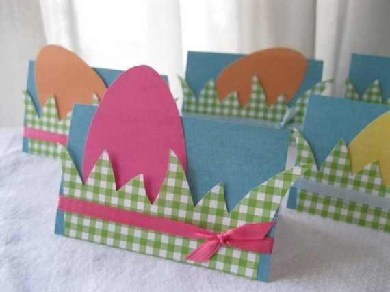 Set of 6 DecorateYourOwn Easter Egg Place by anticipationcards, $9.00