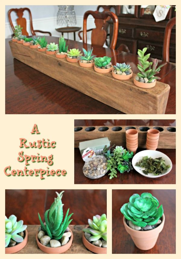 Love This Rustic Spring Centerpiece By Blue Willow House
