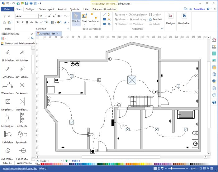 Stromlaufplan Software Planer, Grundriss, Bauplan